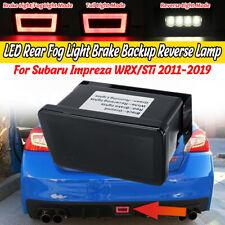 For Subaru WRX/STI 11-19 Smoke Lens F1 Style Rear LED Brake Light Fog Lamp HL