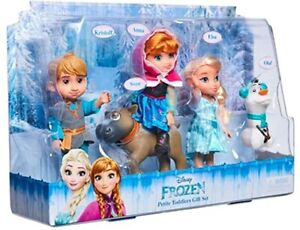 Kids Disney Frozen Petite 5pk Gift Set with 6 inch Dolls Signature outfits