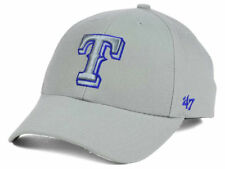 official photos d81f0 15ea8 Texas Rangers 47 BRAND MLB MVP TC Pop Gray Adjustable Baseball Cap Hat