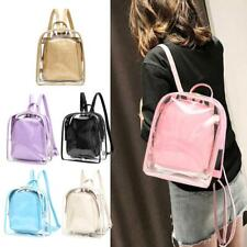 2pc Lady's Student Girls Backpack Clear Transparent PVC Double strap School Bags