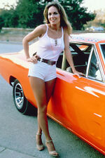 Catherine Bach The Dukes of Hazzard 24x36 Poster sexy leggy pose General Lee car