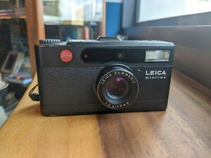 LEICA MINILUX SUMMARIT 40mm F2.4 BLACK (35mm Point & Shoot Film Camera)