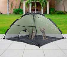 Foldable Outdoor Pet Tent Dog Cat Camping Mesh Enclosure Pop up Shelter w/ Bag