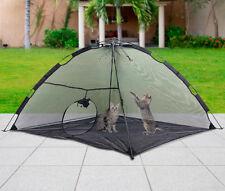 Foldable Outdoor Pet Tent Dog Cat Camping Mesh Enclosure Pop up Shelter w/ Bag