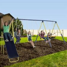 Swing Set With a Slide Outdoor Safe For Kids