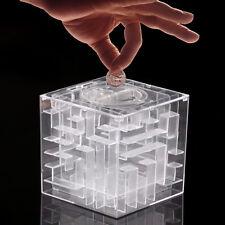 Spardose 3D Kugel Labyrinth Maze Sparbüchse Würfel Geld Maze Money Bank Kit
