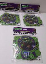 Teenage Mutant Ninja Turtles Happy Birthday Banner Lot of 3 Nickelodeon 2013