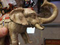 Vintage ORIGINAL Cast Iron Mechanical Elephant Bank