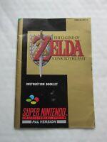 THE LEGEND OF ZELDA SUPER NINTENDO / SNES INSTRUCTION BOOKLET
