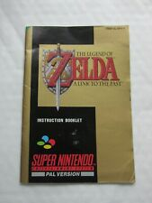 THE LEGEND OF ZELDA SUPER NINTENDO / SNES INSTRUCTION BOOKLET