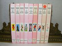 Lot de 9 livres LILI de Marguerite THIÉBOLD Bibliotèque rose 60's 90's