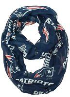 Brand New NFL Women's Infinity Scarf New England Patriots Wrap Blue NFL
