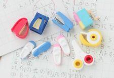 IWAKO 8 School Stationery Puzzle Rubber Erasers Scissors, Sharpener, Shoes etc