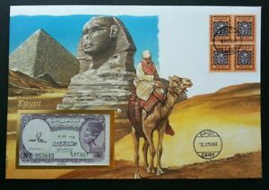 [SJ] Egypt Pyramid 1994 Building Heritage Camel History FDC (banknote cover)