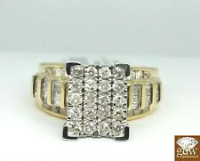 1CT REAL Diamond, 10k Yellow Gold ladies Ring, Wedding/Anniversary Women Ring, N