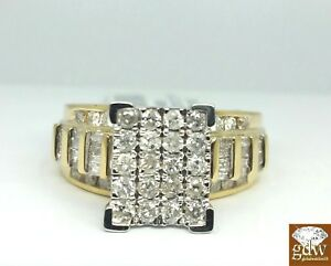 Heavy Vintage Solid 10k417 1.0 Carat TCW Signet 11.0 SALE 10ct White Gold Diamond College Ring Size W