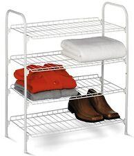 Honey Can Do Sho-01172 4-Tier White Wire Shoe & Accessory Shelves