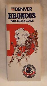 Mint 1984 Denver Broncos NFL Media Guide Yearbook Press Book Program John Elway