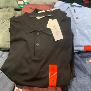Calvin Klein Liquid Touch Logo Men's Polo Shirt Size M New with tag black, navy