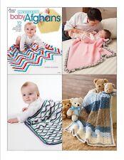 Crochet Pattern Book In A WEEKEND BABY AFGHANS ~ 12 Designs