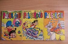 Comics antiguos.Lote de tres de pulgarcito años 1981-1982