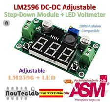 LM2596 DC-DC Adjustable Step-Down Power Module + LED Voltmeter DC/DC