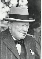 Art print POSTER Winston Churchill Smoking Cigar