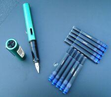 Lamy Füllhalter AL-Star 032-M BLUEGREEN, FÜLLER NEU + 10 Lamy Patronen T10 blau