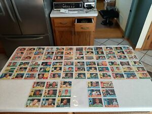 1960 Topps Baseball Lot Of 87 Different Cards All EX/NrMint Nice Cards L@@K