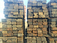 """Reclaimed Pine Railway Sleepers Grade """"B"""" (delivery available)"""