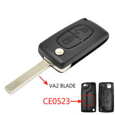 VA2 CE0523 Remote Key Replacement Fob Shell Case For Peugeot 308 207 307 3008