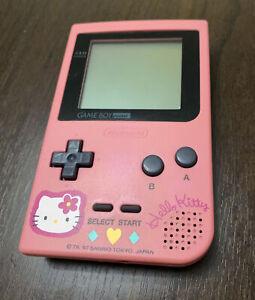 Nintendo Gameboy Pocket Hello Kitty Pink Handheld Gaming Console