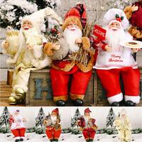 1Pc Christmas Ornaments Gift Santa Claus Snowman Tree Toy Doll Hang Decorations