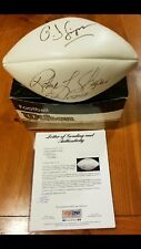 "O.J. Simpson & Robert L. Shapiro ""For Justice"" Signed Official NFL Football RARE"