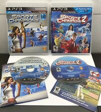 Sports Champions 1 and 2 - (Sony PlayStation 3) VG Condition, *TESTED*