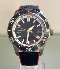 Christopher Ward C60 Trident Elite GMT - Titanium - Hybrid Strap