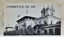 VTG 1977 COMMITTEE OF 100 San Diego Balboa Park California Membership Brochure