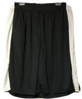 Galaxy by Harvic Mens Black Gray Stripe Mesh Athletic Gym Shorts Size 3XL New