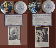 Golden Anniversay+Passions Scarlett Ohara Gone The With Wind 24 Collector Plates