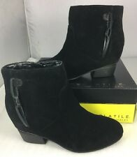 Very Volatile Suede Women Short Boots Size 8.5 M Black