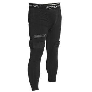 PowerTek V5.0 MEN'S Compression Fit Hockey Pants with Cup & Tabs for Socks