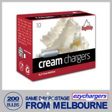 EZYWHIP CREAM BULBS 10 PACK X 20 (200 CHARGERS) NITROUS OXIDE N2O WHIPPER