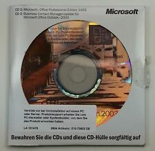 Microsoft Office 2003 Professional Pro OEM Vollversion Deutsch