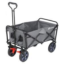 Faltbarer Bollerwagen Klappbollerwagen Handwagen mit Bremsen Einkaufswagen Grau