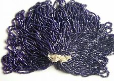 Navy Blue Antique Glass Facet Cut Seed Beads MASTER HANK = 9-10 Minis (6463804)