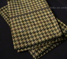 New Ralph Lauren Standard 2 Pillowcases W PIPED CUFF EDGEFIELD HOUNDSTOOTH CHECK