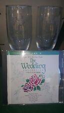 Wedding Bride & Groom Toasting Glass Clear Champagne Glasses 8'' / Wedding CD