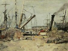 BOUDIN FRENCH TRAWLERS OLD ART PAINTING POSTER PRINT BB5304A