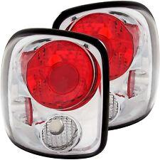 ANZO Chrome Tail Lights For 99-04 Chevy Silverado / GMC Sierra Stepside #211026