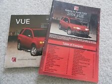2004 Saturn Vue Quick Reference Guide Owners Manual Supplement